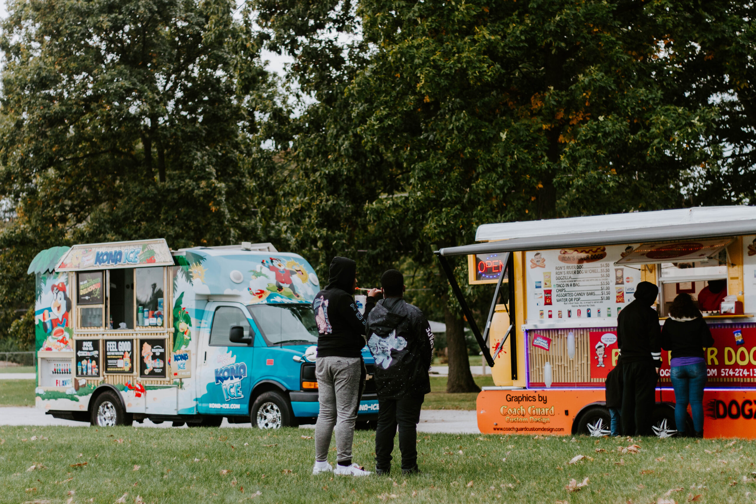 food trucks at event
